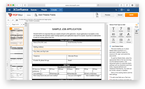 Integrate pdfFiller's DaDaDocs with Confluence