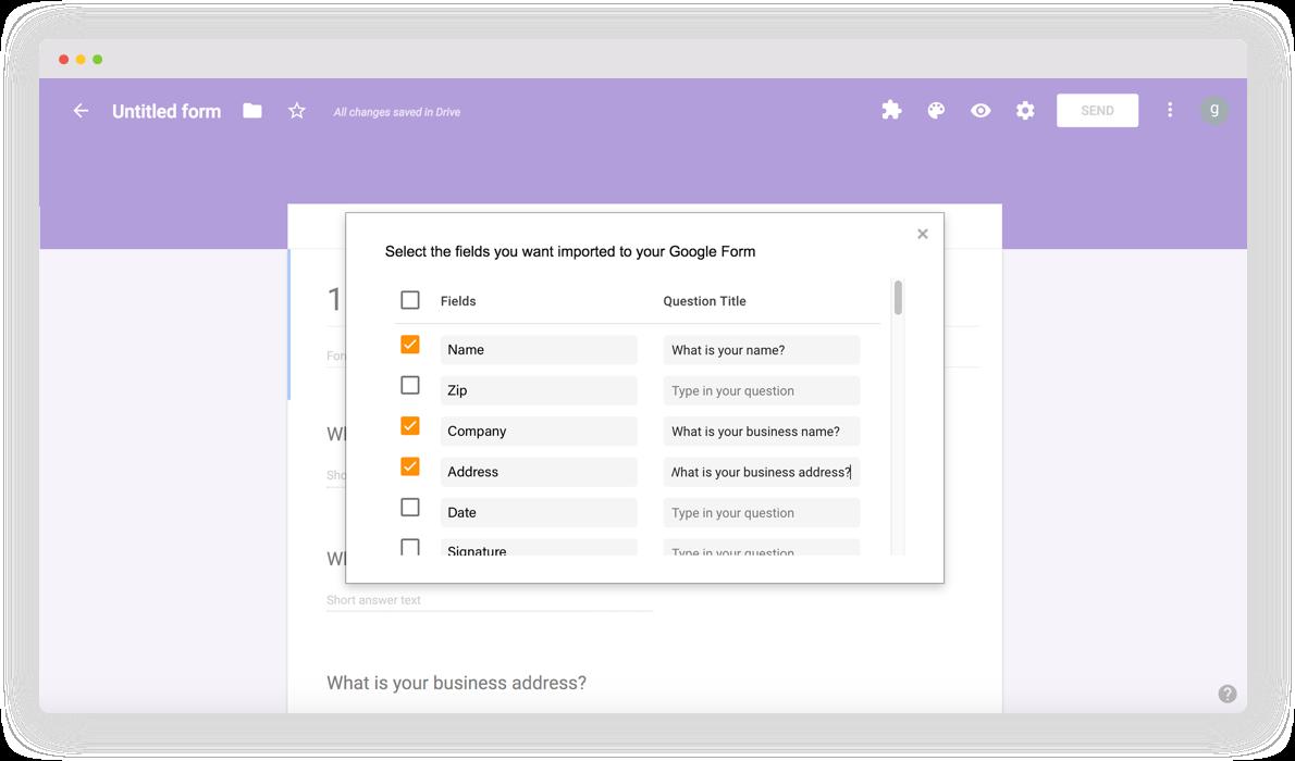 DaDaDocs integration with Google Drive
