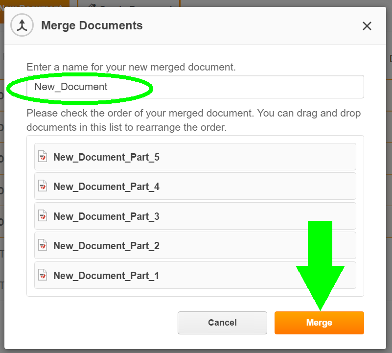 Merge PDF Online using PDFfiller