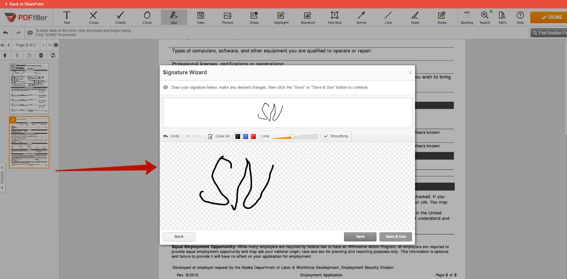 PDFfiller SharePoint integration