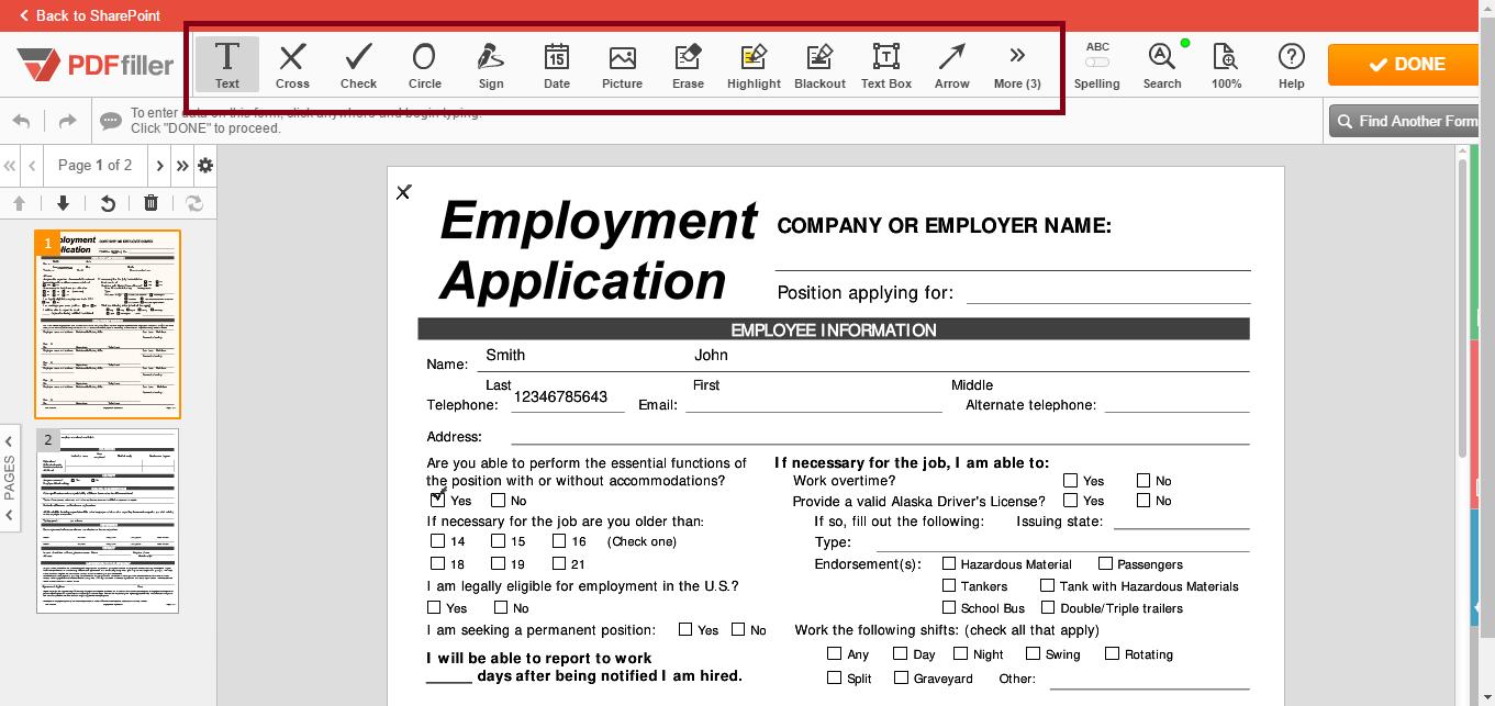 PDFfiller for SharePoint