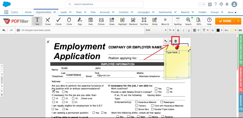 DaDaDocs Salesforce integration