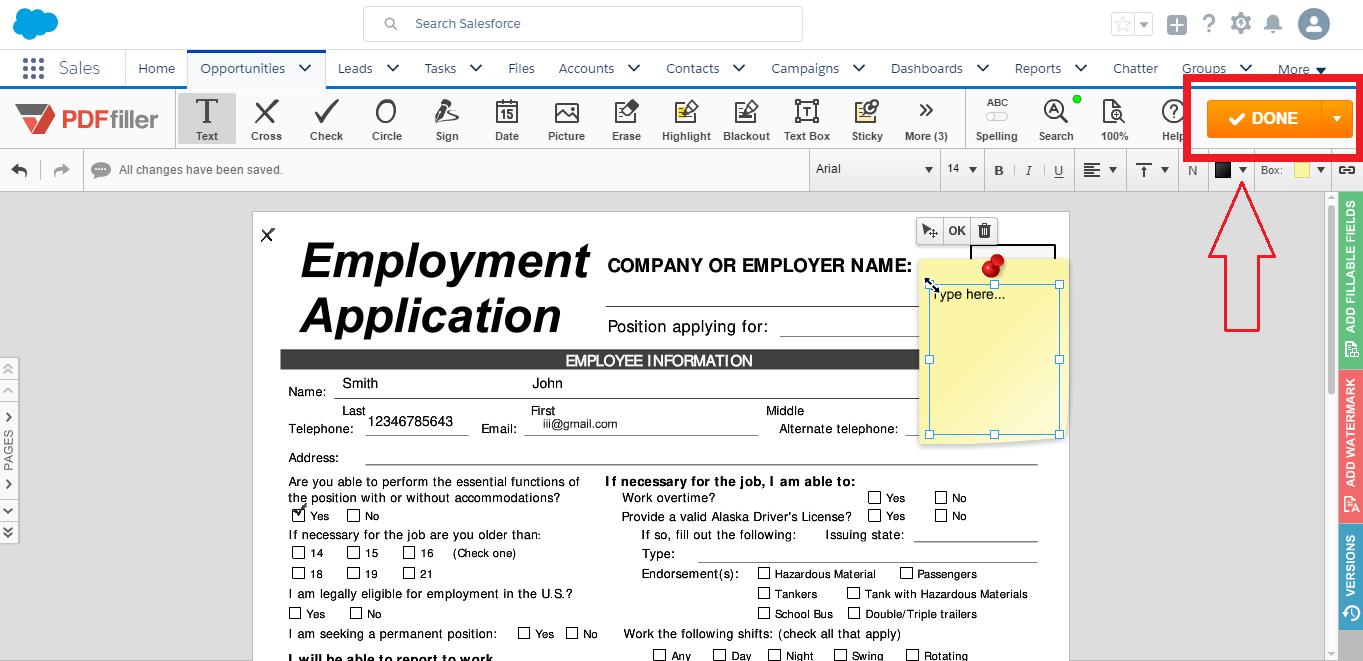 DaDaDocs integrates with Salesforce