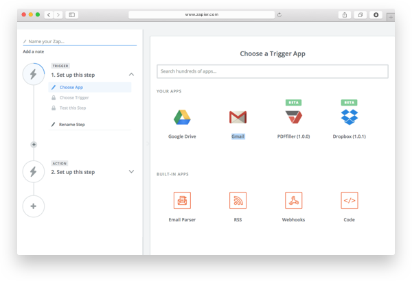 Integrate PDFfiller with Zapier