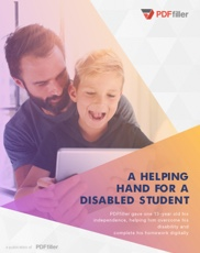 A Helping Hand For a Disabled Student
