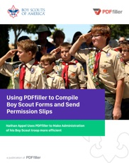 Using pdfFiller to Compile and Send Boy Scout Forms and Permissions