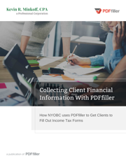 Collecting Client Financial Information with pdfFiller