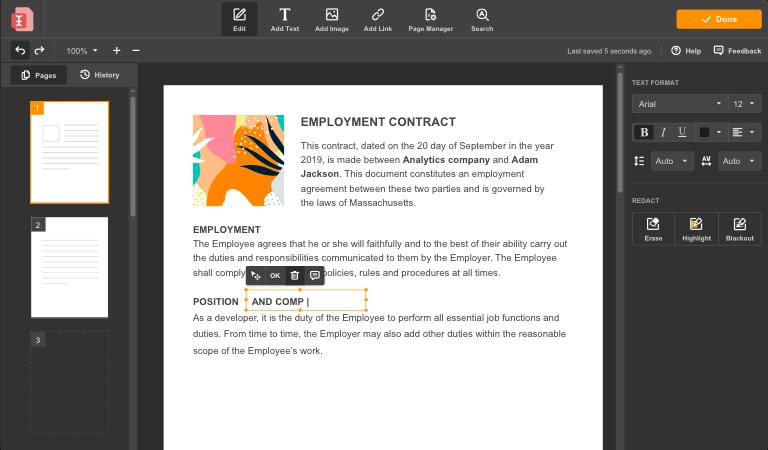 airSlate PDF Screenshot