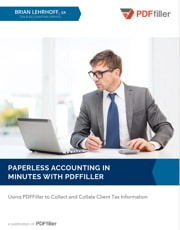 Paperless Accounting In Minutes with PDFfiller