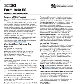 1040-ES form